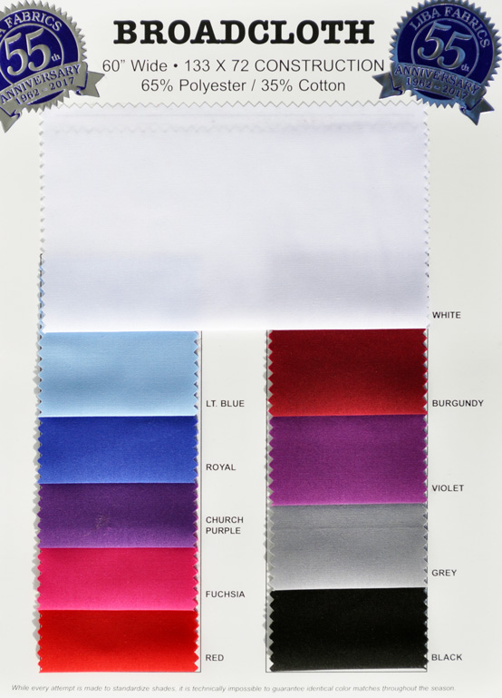 Broadcloth colorcard