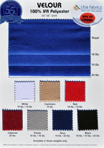 Velour 62″ IFR Colorcard #1