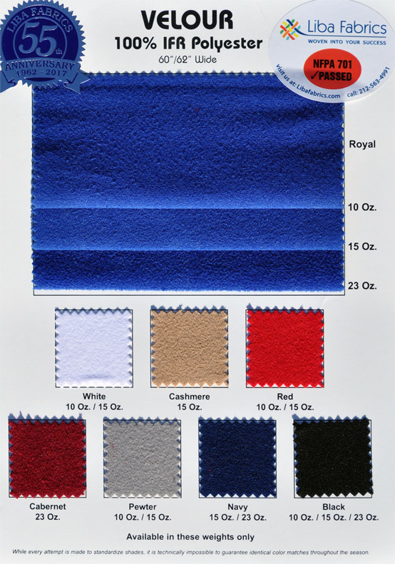 Velour 62″ IFR colorcard